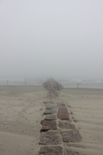 Galveston in the mist